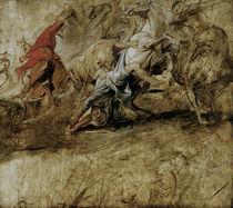 Rubens, Lion Hunt / Sketch /  c. 1621/25 by AKG  Images