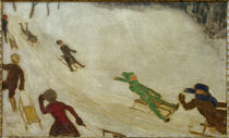 F. v. Stuck / Children Sledging /  c. 1922/24 by AKG  Images