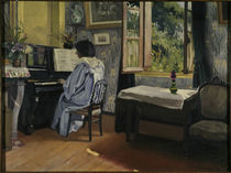 F.Vallotton, Dame am Klavier von AKG  Images