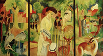 August Macke / Great Zoological Garden / Triptych, 1912 by AKG  Images