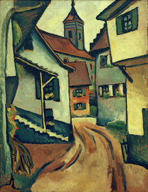 A. Macke / Street with Church in Kandern by AKG  Images