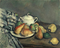 Cezanne / Sugar bowl, apples a. cloth/c. 1893 by AKG  Images