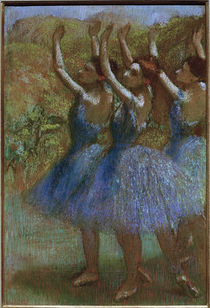 Degas / Three dancers in blue /  c. 1895 by AKG  Images