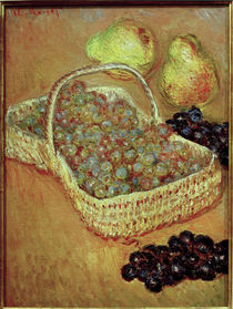 C.Monet, Korb mit Weintrauben und Birnen von AKG  Images