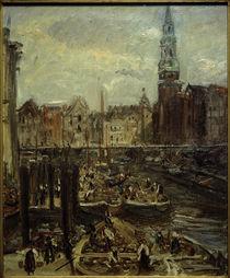 Hamburg,  Fleet am Hopfenmarkt / Gemälde von M. Slevogt by AKG  Images