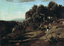 C. Corot / Landscape at Volterra / 1838 by AKG  Images