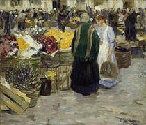 M. Stern, Blumenmarkt an der Rochuskirche von AKG  Images