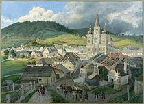 Mariazell mit Wallfahrtskirche /  Aquarell von E. Gurk von AKG  Images