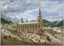 Mariazell, Wallfahrtskirche  /  Aquarell von E. Gurk von AKG  Images
