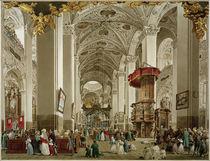 Mariazell, Wallfahrtskirche, Innenenansicht  /  Aquarell von E. Gurk von AKG  Images
