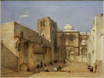 Jerusalem, Grabeskirche  / Aquarell von L. Russ von AKG  Images