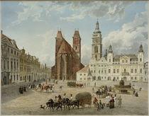 Königgrätz, Domkirche und bischöfliche Residenz / Aquarell von E. Gurk von AKG  Images