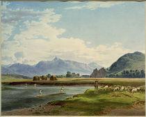 Krivàn, Ansicht von der Bela-Brücke bei Hrádek / Aquarell von J. Alt by AKG  Images