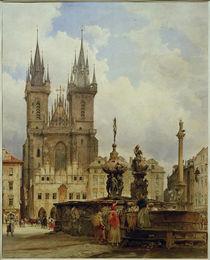 Prag, Teynkirche  / Aquarell von R. von Alt by AKG  Images