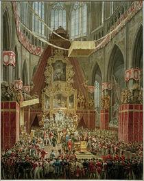 Ferdinand I. von Österreich, Krönung in Prag 1836 / Aquarell von E. Gurk von AKG  Images