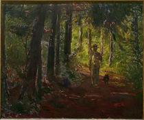 M.Slevogt, Mann auf einem Waldweg von AKG  Images