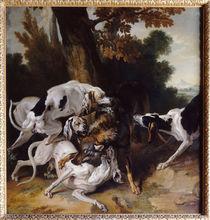 J.–B.Oudry, L'hallali du loup (Wolfsjagd) by AKG  Images