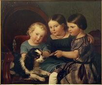 P.Schwingen, Die Kinder Eugen de Weerths Ernst Arthur, Klara und Karl Arthur / um 1850 von AKG  Images