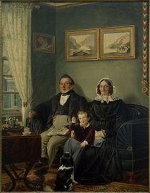P.Schwingen, Johann Peter Keuchen und Sophie Karoline Keuchen geb. Frowein mit ihrem Enkel Eduard Werlé von AKG  Images