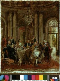 Friedrichs d. Gr. Tafelrunde / Menzel von AKG  Images
