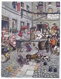 Zirkusspiel im Hinterhof / Zille von AKG  Images