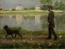 Caillebotte / Richard Gallo and Dog 1884 by AKG  Images