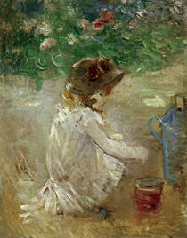 B.Morisot, The mud pie, 1882 by AKG  Images