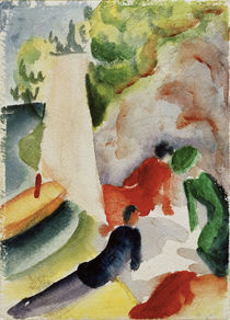 A.Macke / Picnic on the Beach by AKG  Images