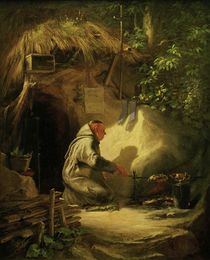 C.Spitzweg / Hermit / Dinner / Painting by AKG  Images