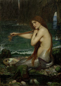 J.W.Waterhouse, A Mermaid / painting 1900 by AKG  Images