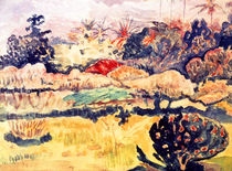 P.Gauguin, Tahitian Landscape / Watercol by AKG  Images