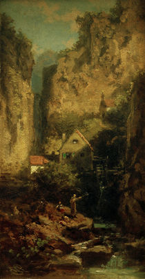 The Trout Fisher / C. Spitzweg / Painting c.1875 by AKG  Images