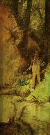Youth Startled by a Water Nymph / C. Spitzweg / Painting c.1847 by AKG  Images