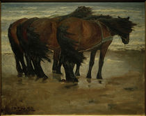 N. P. Mols, Vier Pferde, Kandestederne von AKG  Images