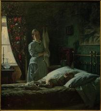 V. Johansen, Schlafzimmerszene von AKG  Images