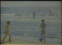 P. S. Kröyer, Badende Jungen. Sonnenschein. Skagen von AKG  Images