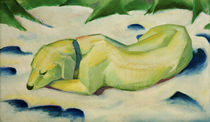 Franz Marc / Dog lying in the snow by AKG  Images