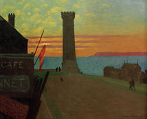 The Old Lighthouse in Honfleur / F.Vallotton / Painting 1920 by AKG  Images