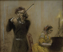 Clara Schumann u. Joseph Joachim / Menzel von AKG  Images