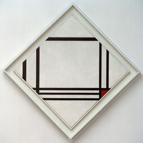 Picture no.III, Lozenge Composition with Eight Lines and Red / P. Mondrian / Painting 1938 by AKG  Images