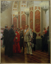 Friedrich III. auf Hofball / Werner by AKG  Images