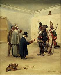 Menzel, Wilhelm II. in Kossaks Atelier von AKG  Images