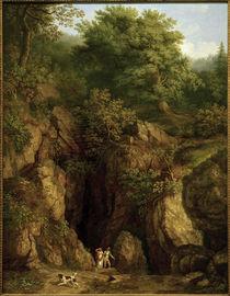 J.Ph. Hackert, Grotte des Hl. Franziskus am Monte Verna I. by AKG  Images