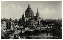 Berlin, Dom und Friedrichsbrücke / Fotopostkarte, vor 1927 von AKG  Images