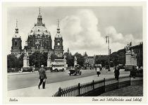 Berlin, Dom mit  Schlossbrücke / Fotopostkarte, um 1930 by AKG  Images