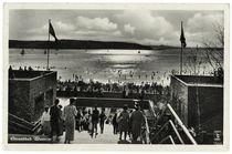 Berlin, Strandbad Wannsee / Fotopostkarte, 30er Jahre by AKG  Images
