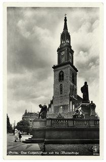 Berlin, Marienkirche und Luther-Denkmal / Fotopostkarte, um 1935 by AKG  Images
