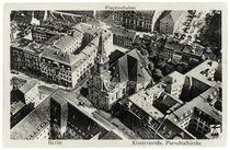 Berlin, Parochialkirche, Luftaufnahme / Fotopostkarte, um 1920 von AKG  Images
