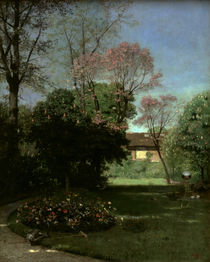 Garden of Alfred Stevens / Painting by AKG  Images