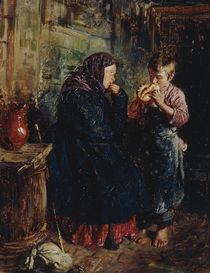 W.J.Makowski, Alte Frau und Knabe von AKG  Images